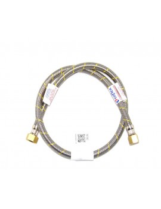 FLEXIBLE ACERO GAS HI 1/2 x 3/8 IZQ.100 cm