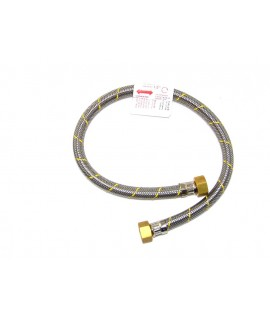 FLEXIBLE ACERO GAS HI1/2X1/2 60 cm CERTIFICADO