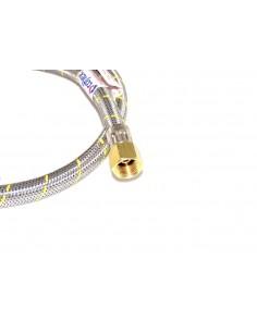 FLEXIBLE ACERO GAS HI 1/2x3/8 IZQ.100CM
