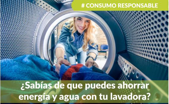 Ahorrar agua y energía con tu lavadora